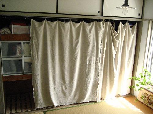 【押入れ収納2】ふすま から カーテン へ_c0199166_1314187.jpg
