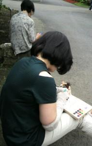 絵手紙列車に乗ってきましたよ~☆_b0140270_9231773.jpg