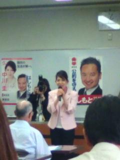中川圭さん、安佐南区で橋本衆院議員支持者らに挨拶_e0094315_201725.jpg