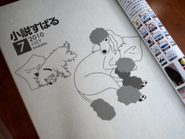 ★文芸誌表紙・挿絵・エッセイ★小説すばる2010.7月号_b0166144_10572387.jpg