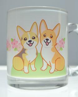 ももちゃん&あんずちゃんガラスマグカップ_d0102523_2235163.jpg