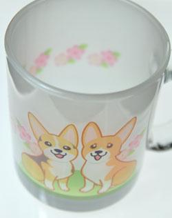 ももちゃん&あんずちゃんガラスマグカップ_d0102523_224326.jpg