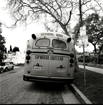 外国のスクールバス。