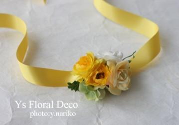 黄色のドレスに合わせる花冠&リストレット_b0113510_0591215.jpg