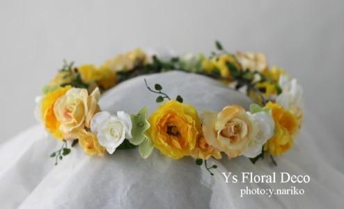 黄色のドレスに合わせる花冠&リストレット_b0113510_059432.jpg