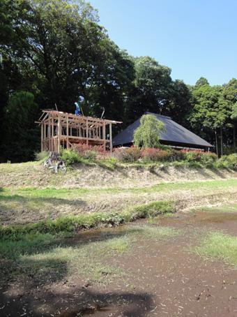 「小倉町の家」の書庫が上棟しました。その1_c0195909_1215386.jpg