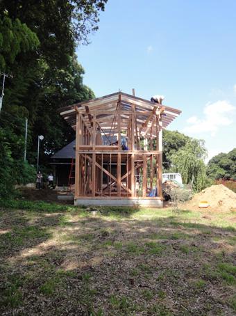 「小倉町の家」の書庫が上棟しました。その2_c0195909_19293611.jpg