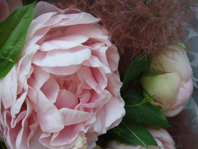 オークリーフ(かぐや姫とピンクファーの花束)_f0049672_1194966.jpg