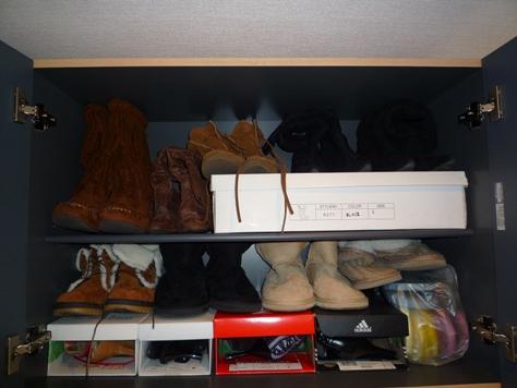 下駄箱の収納 娘達の靴 何とかするぞ~(^0^)/_e0123286_19582121.jpg