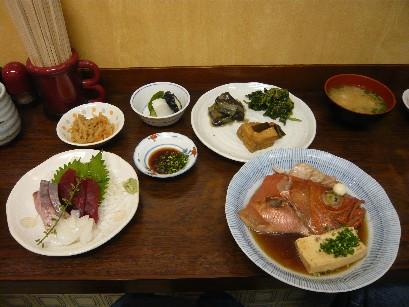金目鯛の煮付け定食