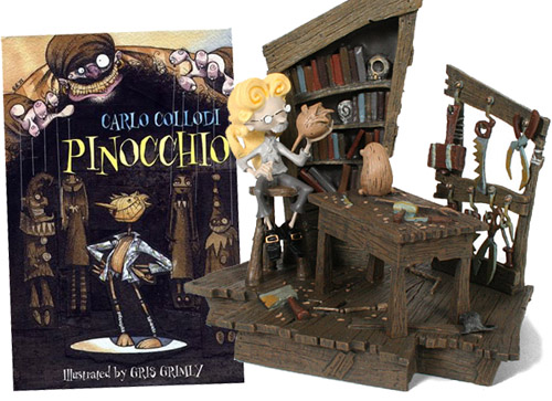 G・グリムリィ挿し絵のハードカバー『ピノキオ』、ジオラマとセットでどうぞ。_a0077842_8141794.jpg