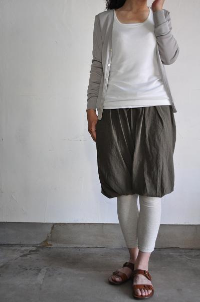 TANG/タング RENCIL gassed & mercerized (CIRCULAR KNIT)Cardigan
