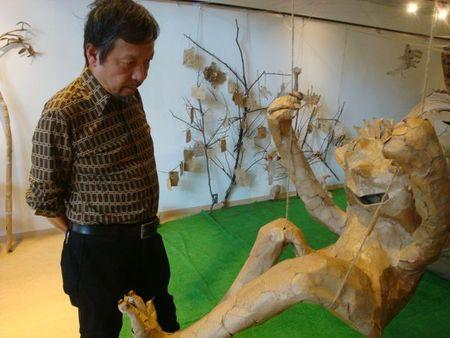 美術家彦坂尚嘉さん、玉田多紀展を訪問_e0149596_1364030.jpg