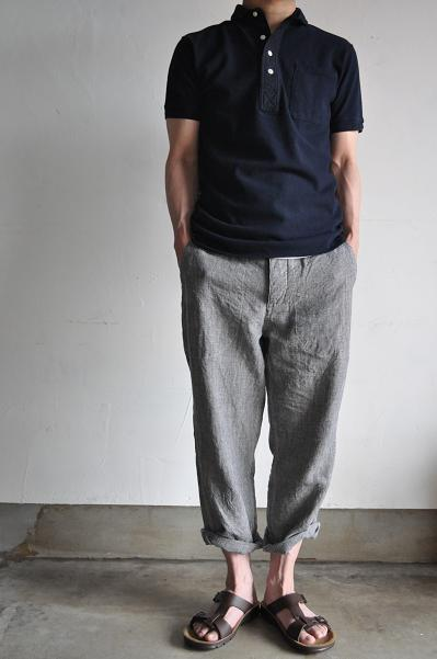 KATO' Linen Cropped Trouser (Hound's-thooth)