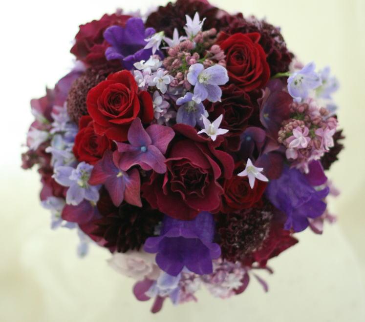 新郎新婦様からのメール ウェスティンホテル東京様へ 白の芍薬、紫のバラ_a0042928_2138416.jpg