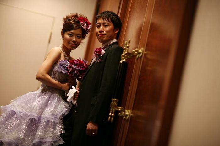 新郎新婦様からのメール ウェスティンホテル東京様へ 白の芍薬、紫のバラ_a0042928_2138912.jpg