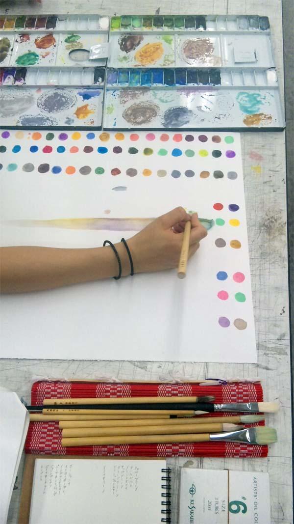 水彩絵具の特性を知る/日本画夜間部_f0227963_21145462.jpg