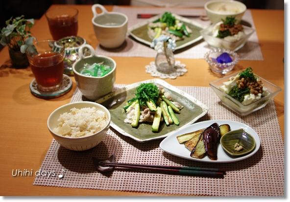 ズッキーニと豚肉の柚子胡椒和え_f0179404_21464417.jpg