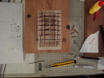 小倉町の家」の軸組模型が着々と進んでいます。_c0195909_10452958.jpg