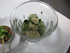 7月の料理出来ました「帆立のイギス豆腐」_d0177560_1939779.jpg