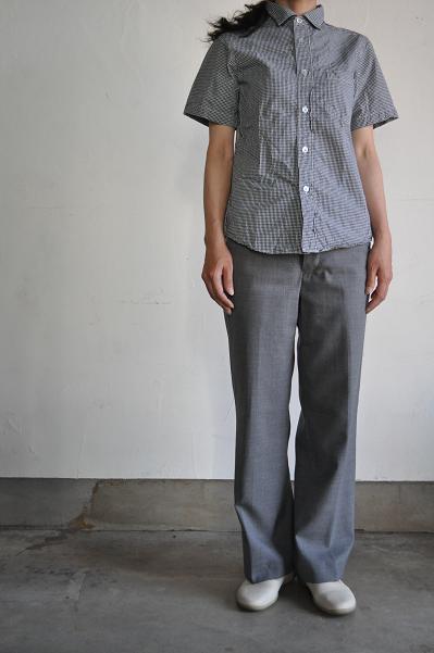 RINEN 80/2ダウンプルーフ半袖レギュラーカラーシャツ