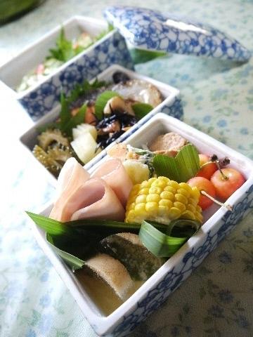 陶器の重箱;七夕を盛り合わせ☆_e0086864_21125072.jpg