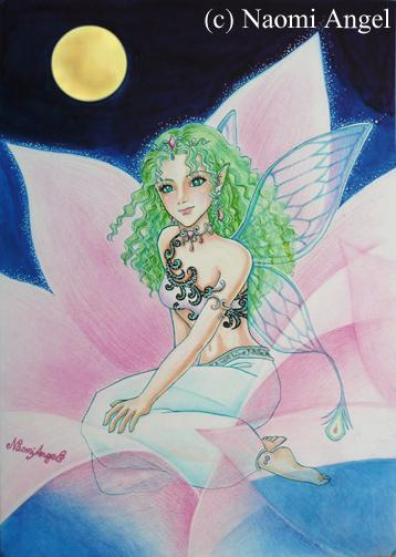 Flower Fairy under the Moon - 月下の花の妖精 -_f0186787_14342693.jpg