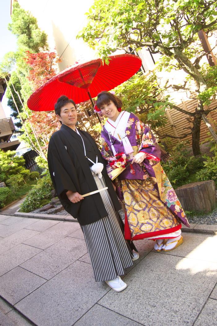 新郎新婦さまからのメール 扇ブーケ 平安神宮_a0042928_01552.jpg