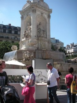 St. Sulpice広場での陶芸作家の展示会_f0214437_111492.jpg