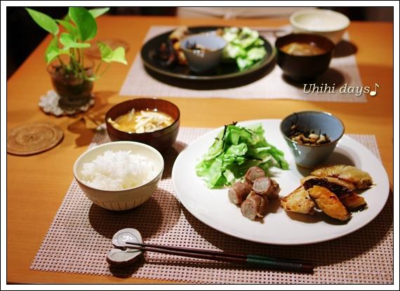 もやしの豚肉巻き と キャベツの塩昆布和え_f0179404_21104074.jpg