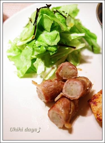 もやしの豚肉巻き と キャベツの塩昆布和え_f0179404_2183266.jpg