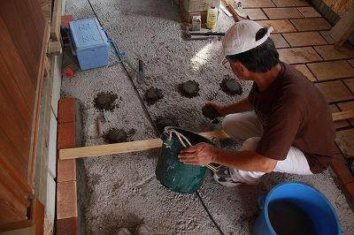 玄関・土間・・・・・ささやかなこだわり(遊び)バリの石 施工_b0137969_20504733.jpg