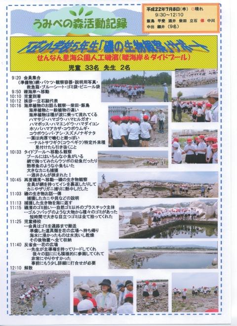 下荘小学校5年生学習サポート in せんなん里海公園_c0108460_1756154.jpg