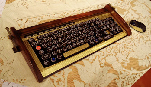 Steampunk Wireless Keyboard & Mouse GOLD_c0155077_22464140.jpg