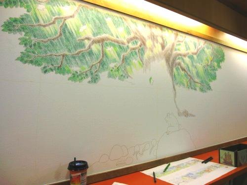 絵本ルームの壁画☆その1