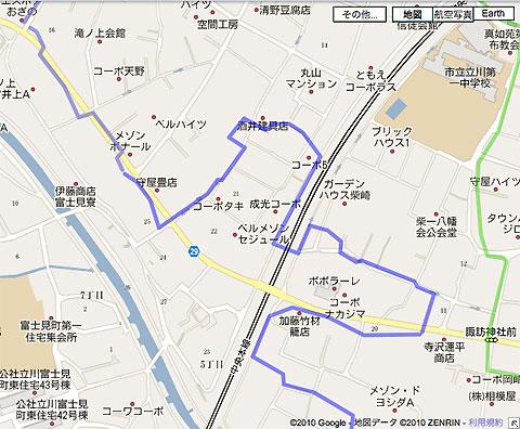 柴崎分水(立川分水)(3)奥多摩街道〜中央線付近まで_c0163001_109128.jpg
