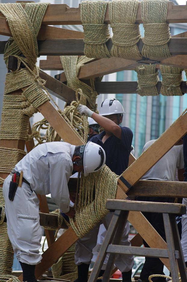 祇園祭 鉾建て..._f0152550_12395326.jpg