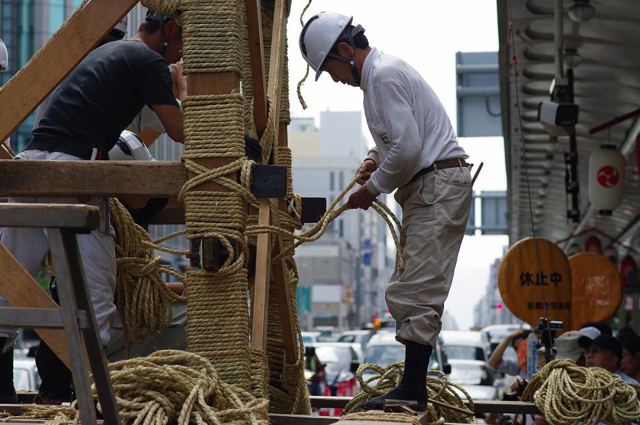 祇園祭 鉾建て..._f0152550_12395995.jpg