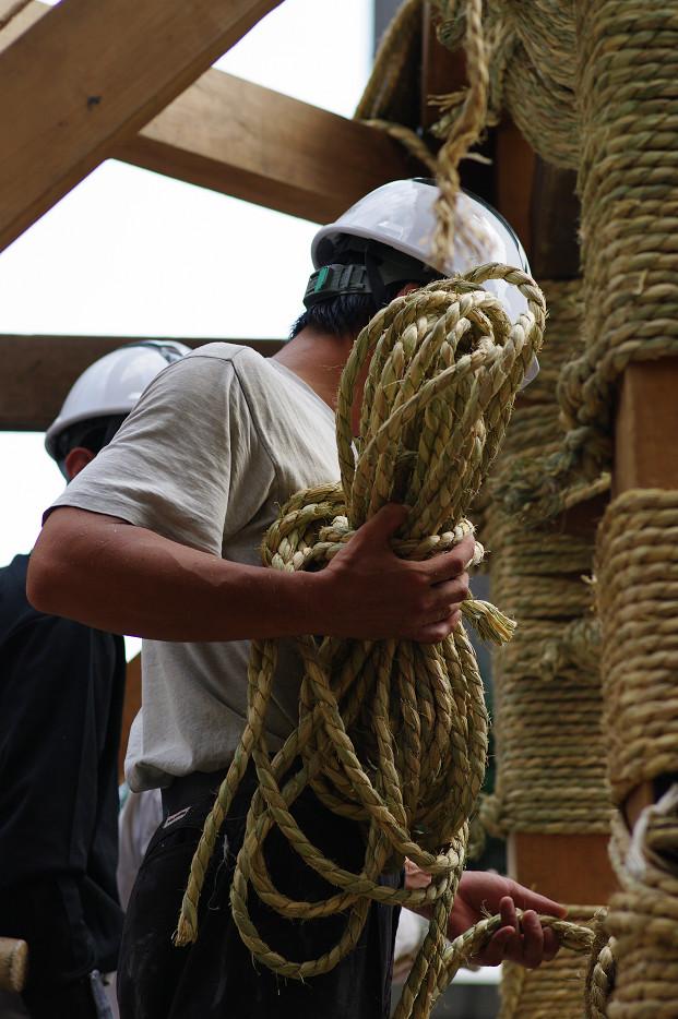 祇園祭 鉾建て..._f0152550_12401652.jpg