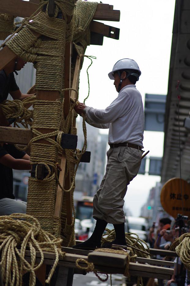 祇園祭 鉾建て..._f0152550_1240482.jpg