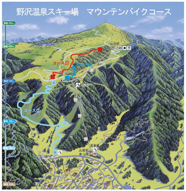 野沢温泉スキー場に全長約10kmのマウンテンバイクコースが登場!_e0069415_1113433.jpg
