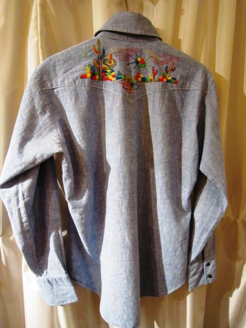 Used 1970\'s 刺繍入りシャンブレ―シャツ_f0191324_0535227.jpg