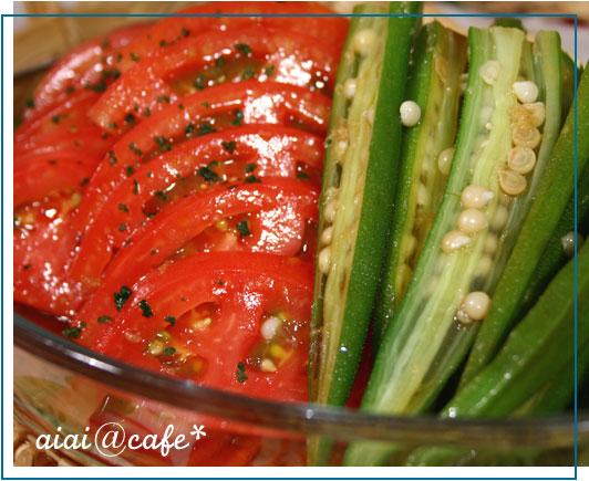 トマトとオクラの生姜風味マリネ_a0056451_13314647.jpg
