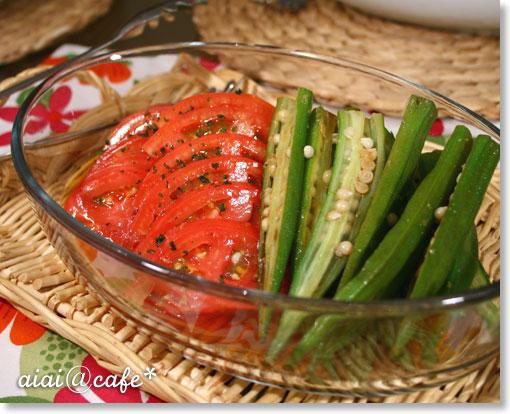トマトとオクラの生姜風味マリネ_a0056451_14271181.jpg