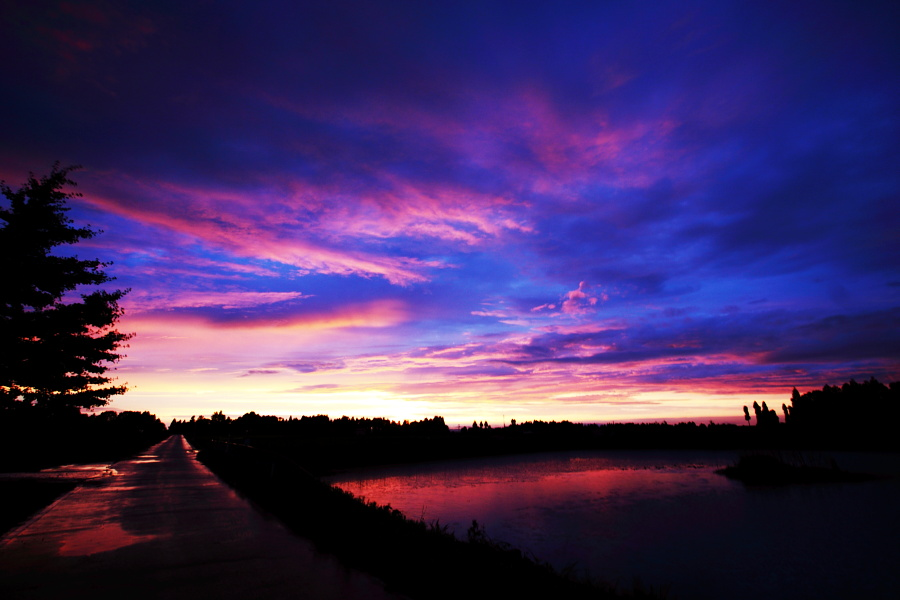 ある梅雨の夕焼けと虹 [立山夕景]_b0157849_8164238.jpg