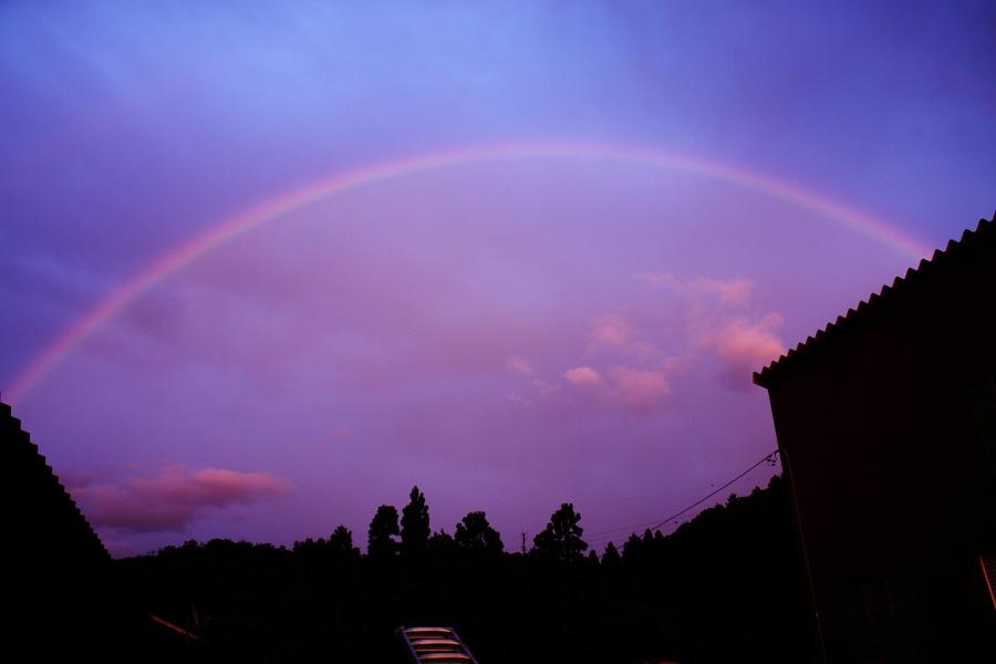 ある梅雨の夕焼けと虹 [立山夕景]_b0157849_8165655.jpg