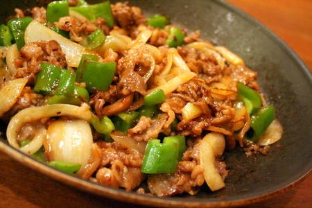 牛肉とピーマンのオイスターソース炒め_f0141419_6312462.jpg