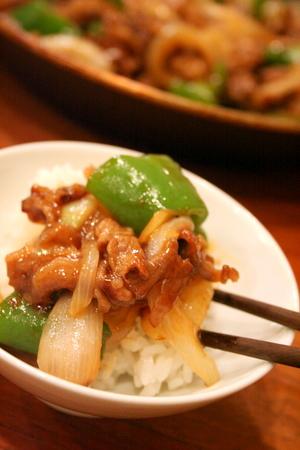 牛肉とピーマンのオイスターソース炒め_f0141419_6313122.jpg