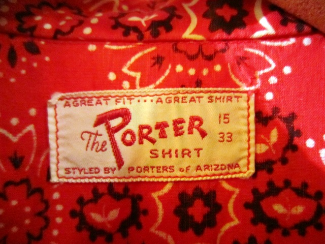 "Used \""PORTER社製 1960s ウエスタンシャツ\""_f0191324_0351620.jpg"