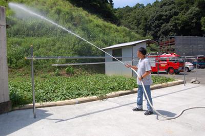 消防総合訓練を実施_a0154110_1451239.jpg